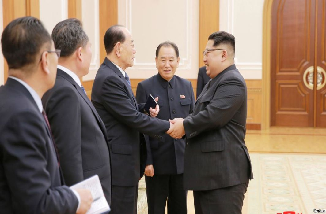 North Korean leader Kim meets South Korean high ranking officials