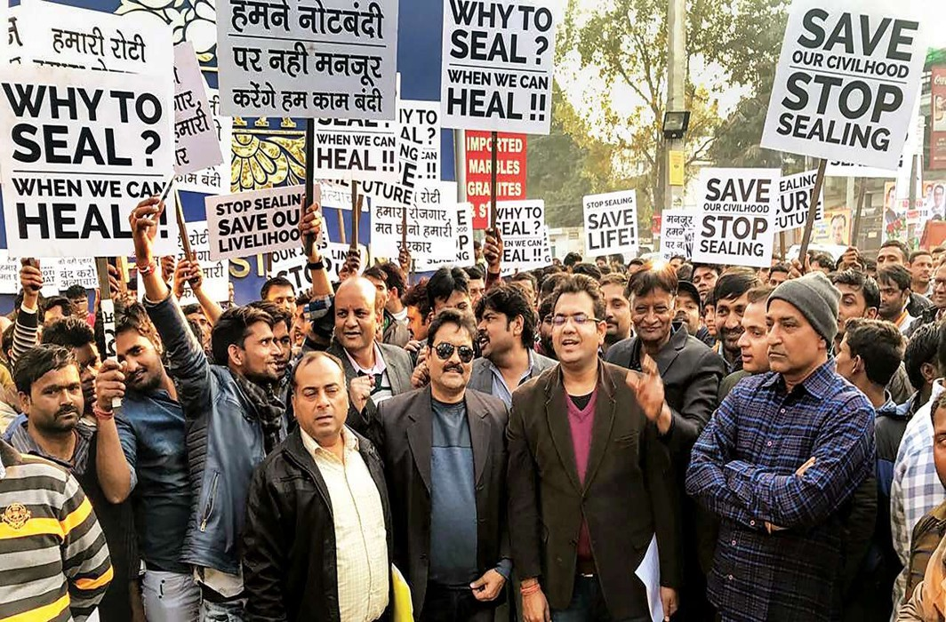 Lakhs of shops in major markets of Delhi remain shut as traders protest sealing drive