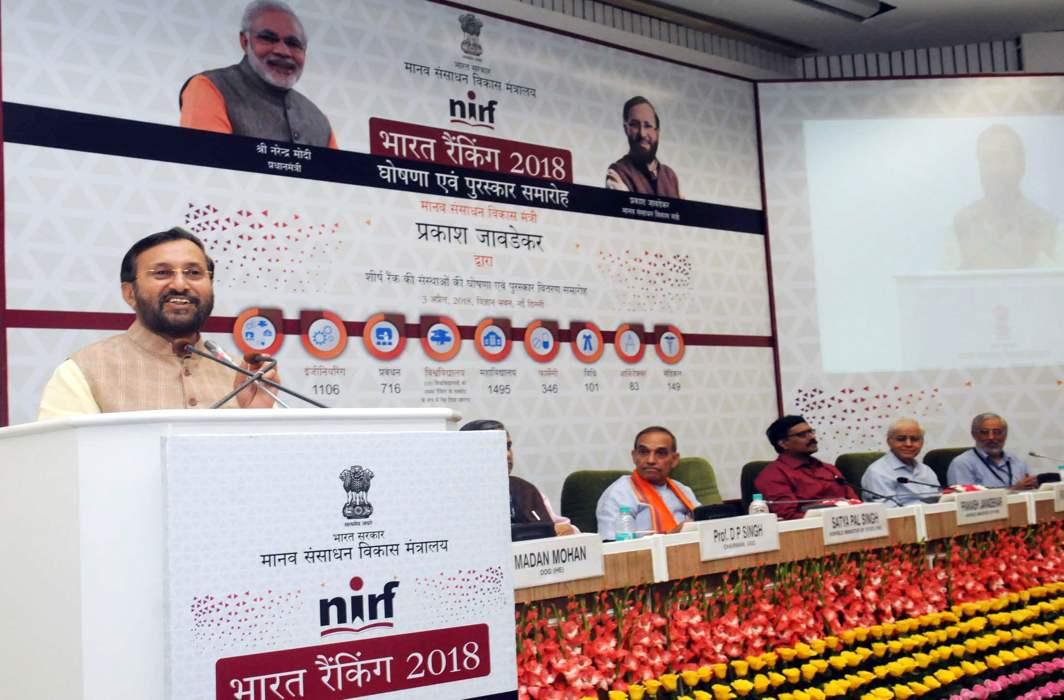 NIRF Ranking 2018: IISc Bangalore, IIT Madras, IIM Ahmedabad, AIIMS, JNU among the top