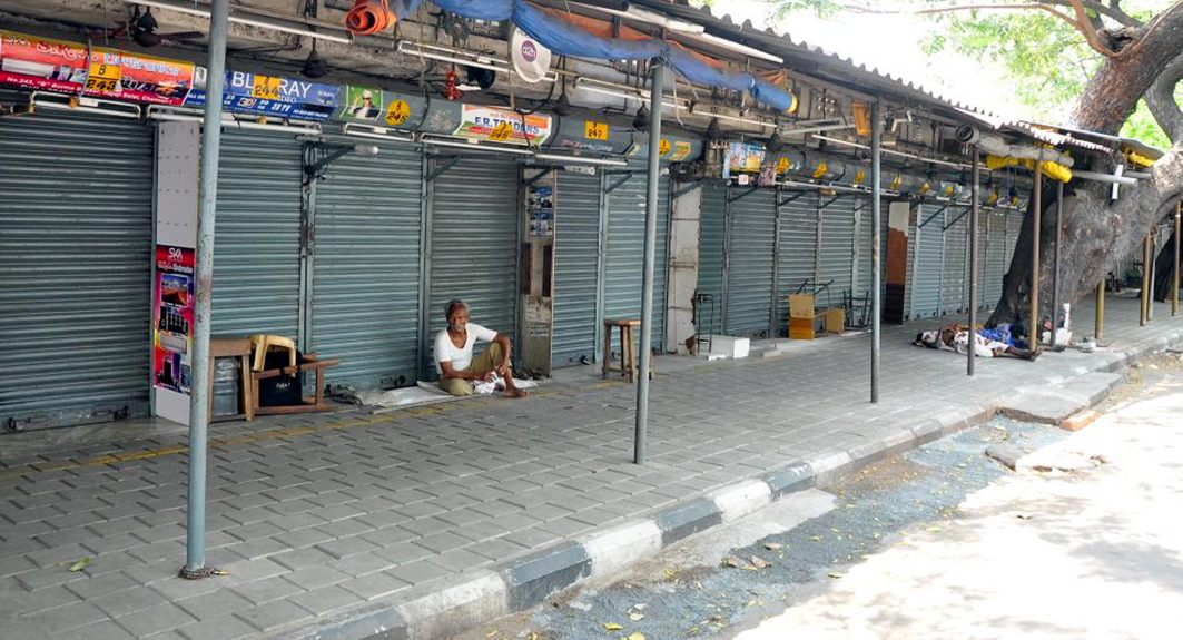 DESERTED: Shops remained closed at Burma Bazaar following a dawn-to-dusk bandh called by opposition parties demanding the Union government constitute Cauvery Management Board, in Chennai, UNI