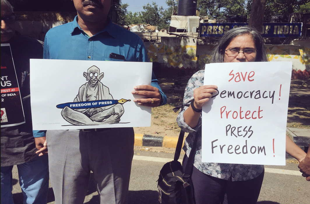 India slides further in press freedom under deadly threat from Modi's nationalism