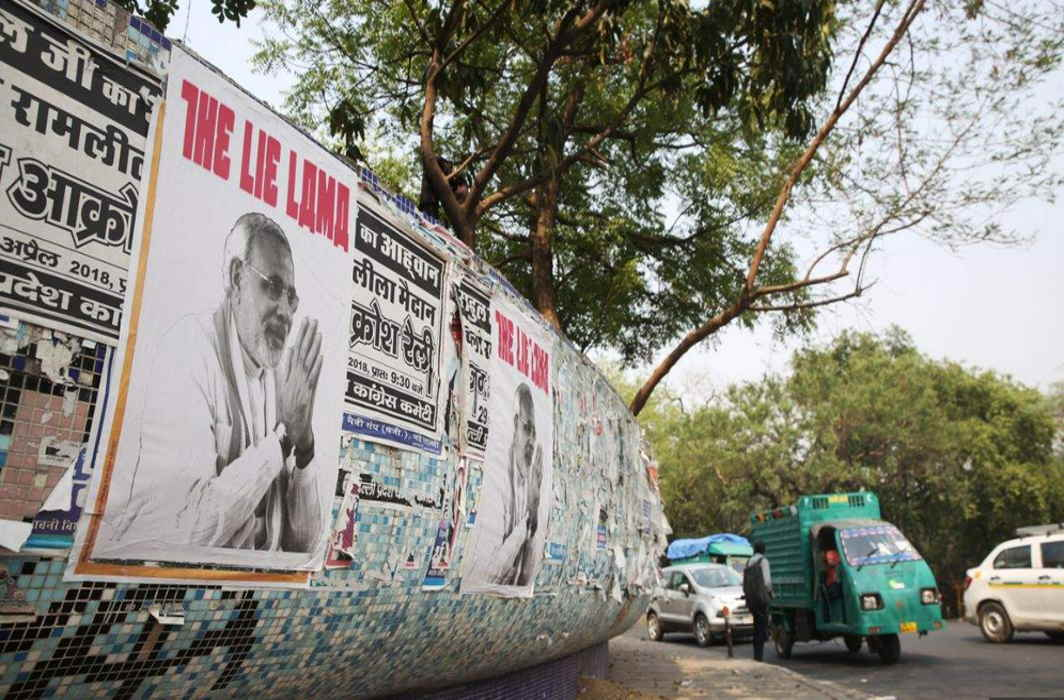 Cops probe posters of Prime Minister Narendra Modi with tag 'The Lie Lama'