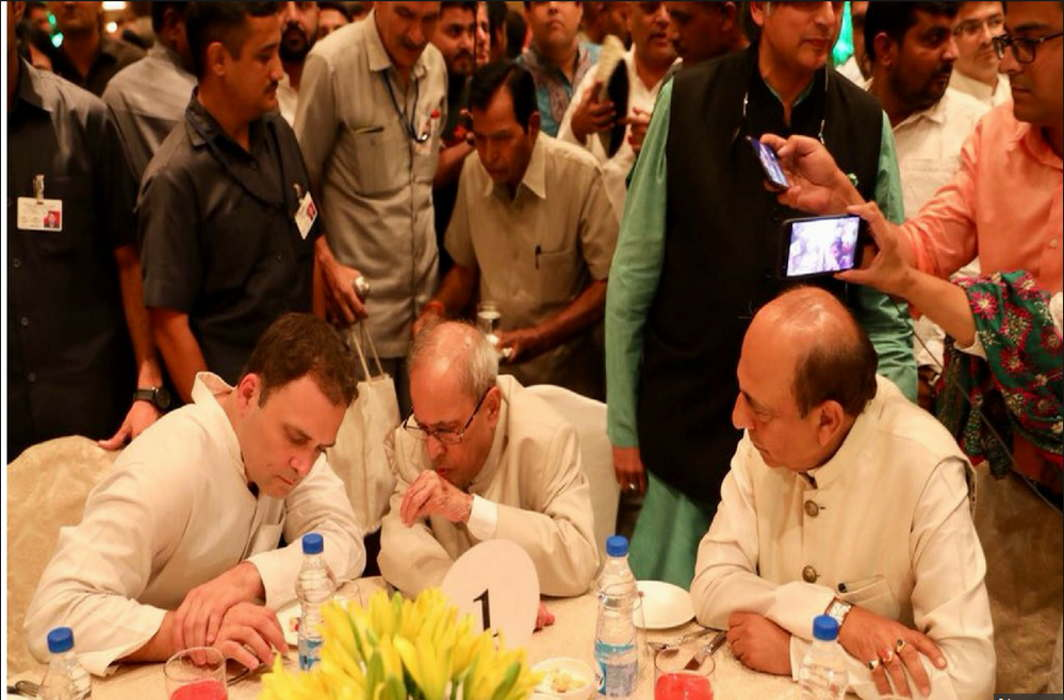 Rahul Gandhi's iftar: Pranab Mukherjee attends, opposition present in strength
