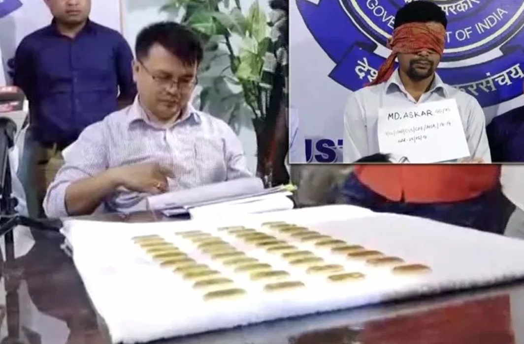 40 Gold Biscuits Worth 2 crore seized in Manipur, 2 arrested