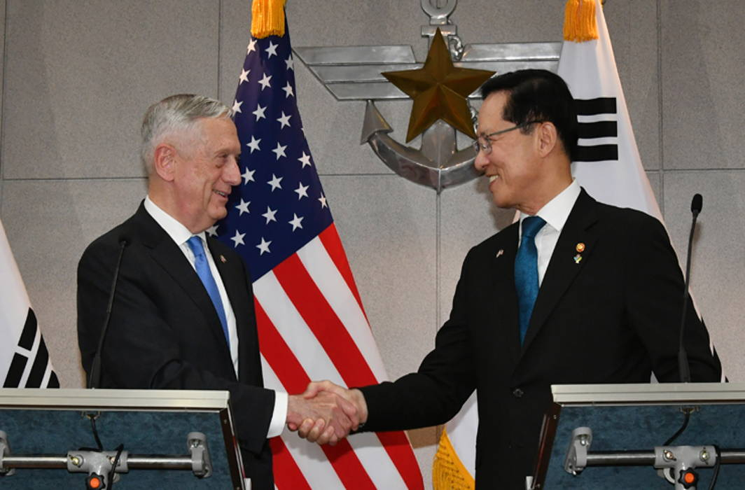 US Defence Secretary meets South Korean Defence Minister