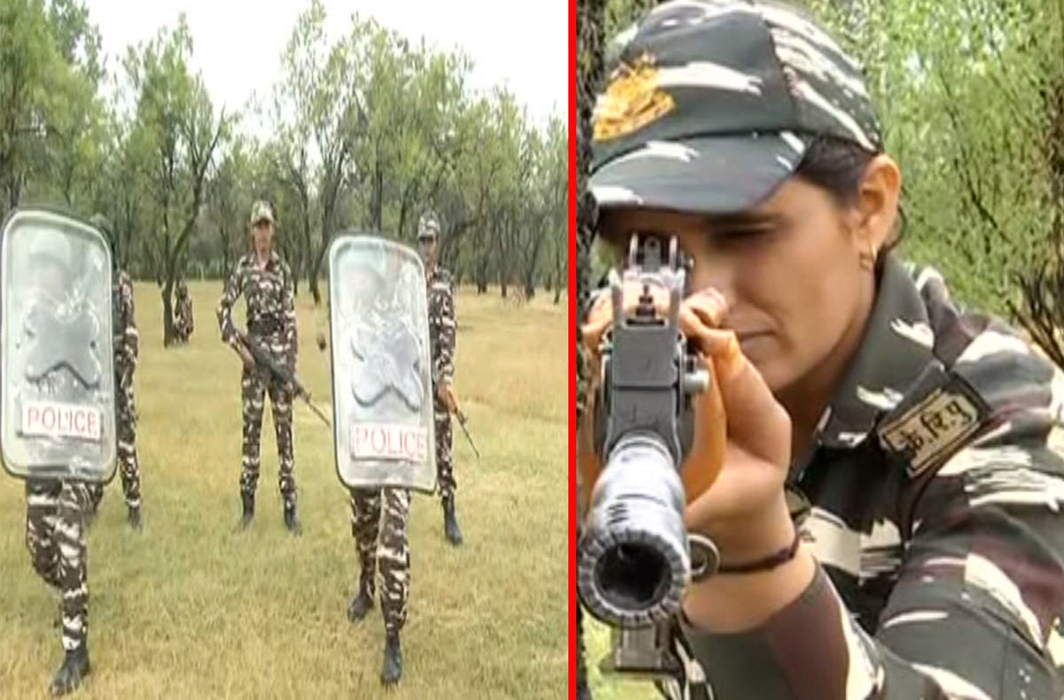 CRPF prepares women commandos squad to tackle women stone pelters