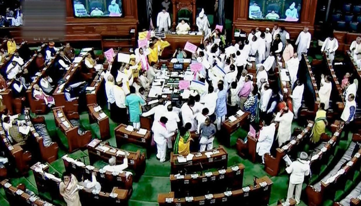 Monsoon session gets off to noisy start; No-confidence motion against Modi Govt admitted