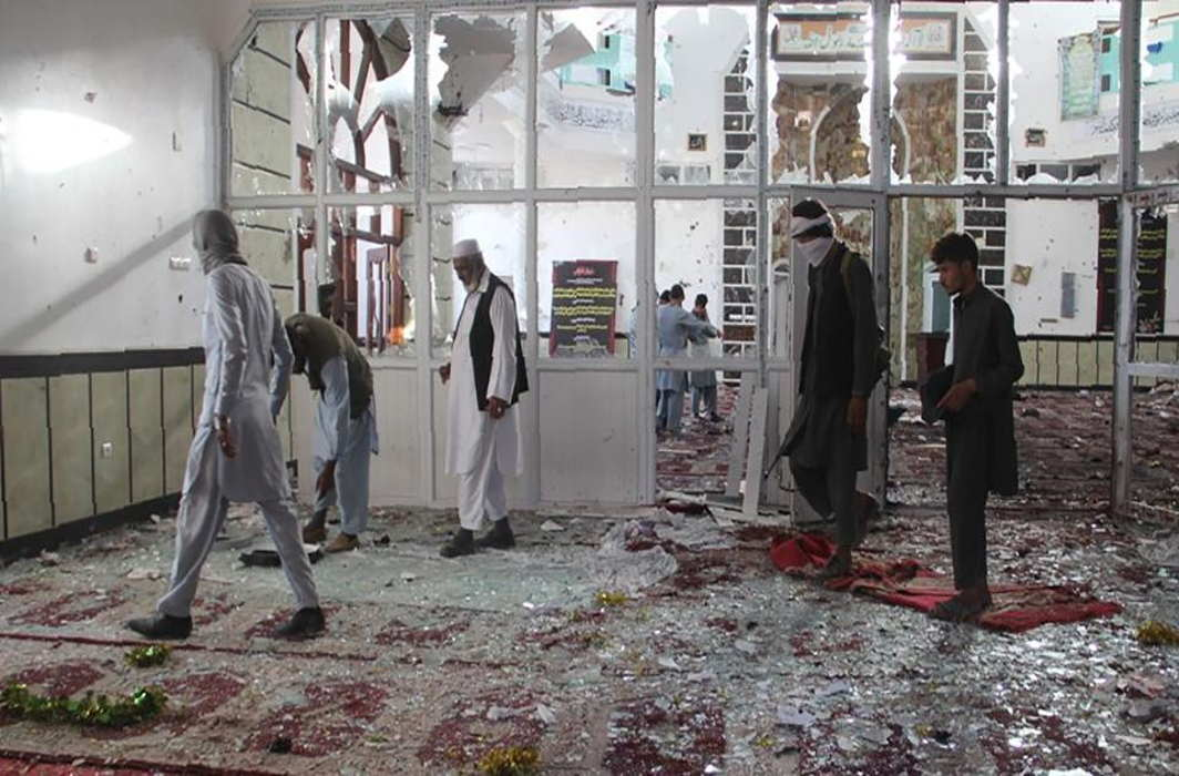 Afghan President Condemns Suicide Bombing On a Shia Mosque