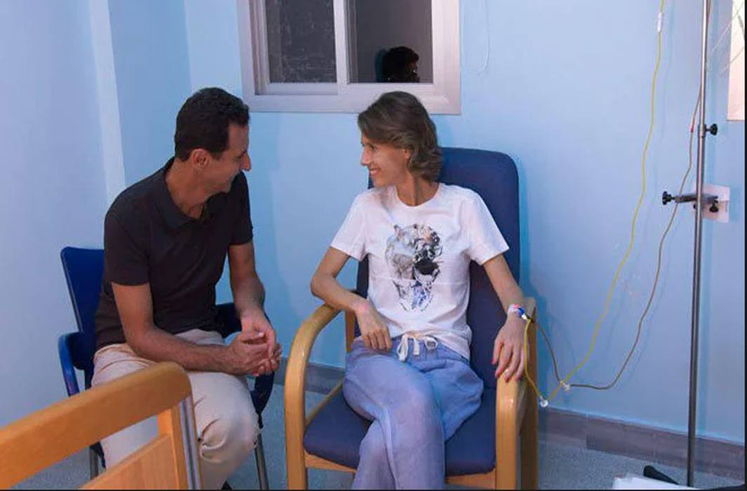 Syria's first lady diagnosed with cancer, first stage treatment begins
