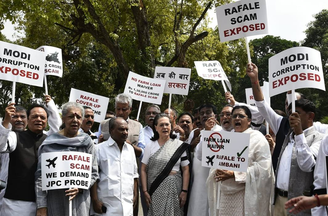 Monsoon session: Uproar over Rafale deal, Congress demands JPC probe