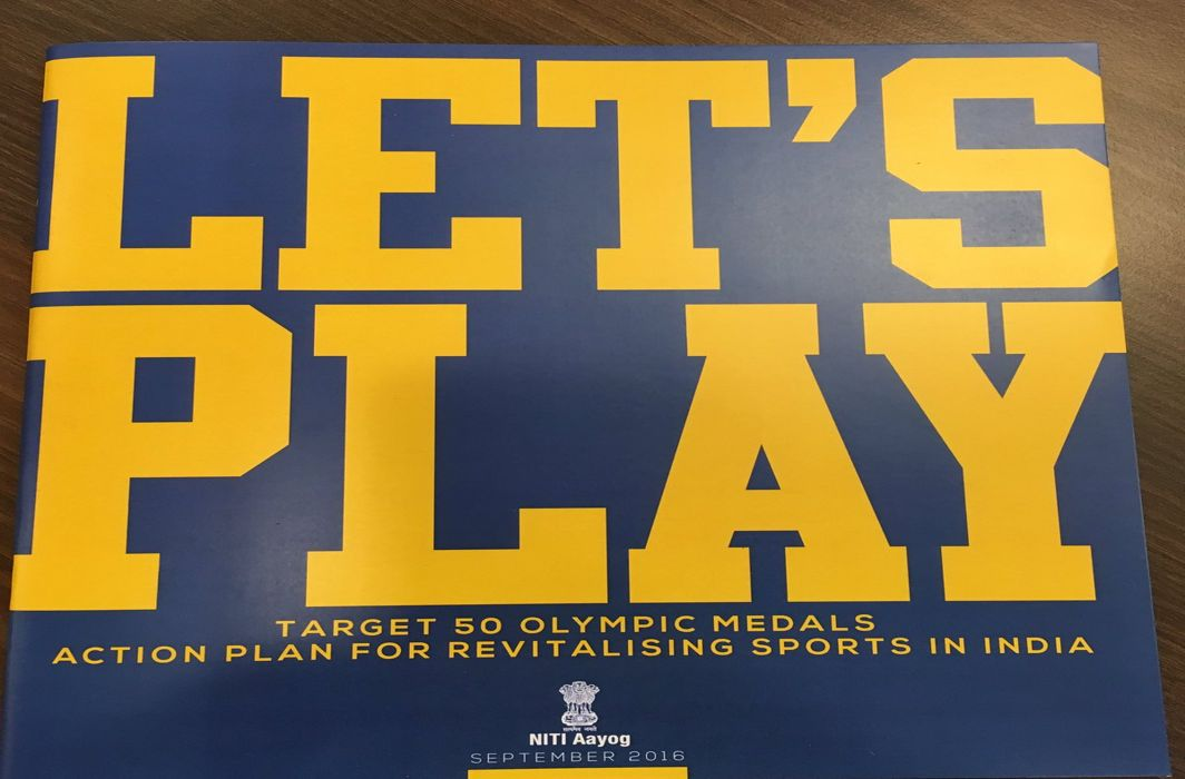 A Sports Plan for India: conceived and directed by bureaucrats