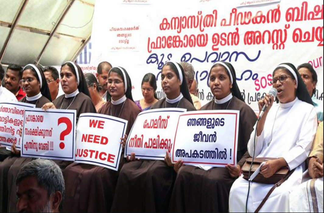 Kerala nuns join protest against rape accused Bishop Mulakkal