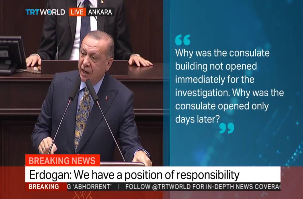 Khashoggi murder: Erdogan demands extradition of 18 Saudi nationals
