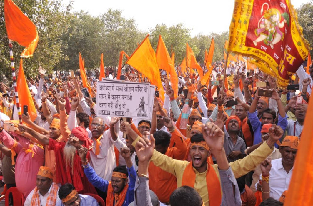 Ayodhya tense before Sangh parivar's rally tomorrow to push for Ram temple