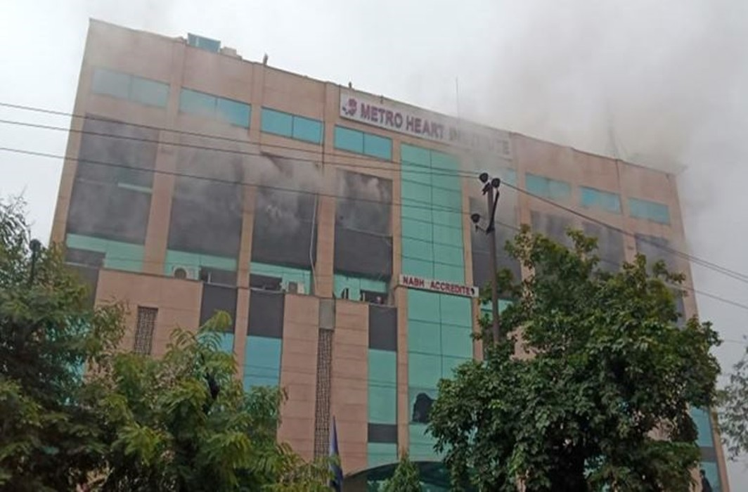 Major fire broke out at Metro Hospital Noida, No causalities reported