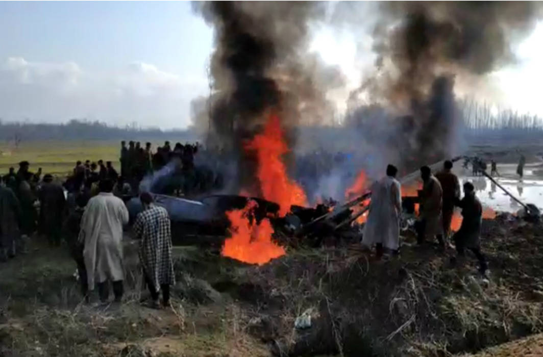 IAF jet crashes in J&K's Budgam, two pilots dead