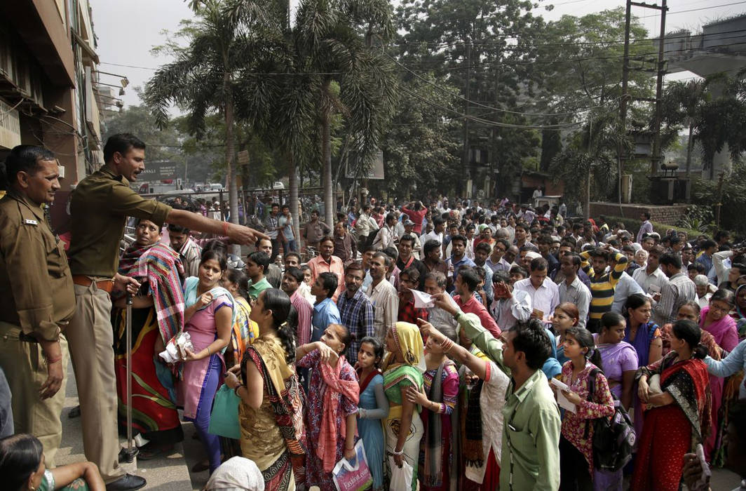 Demonetisation queue