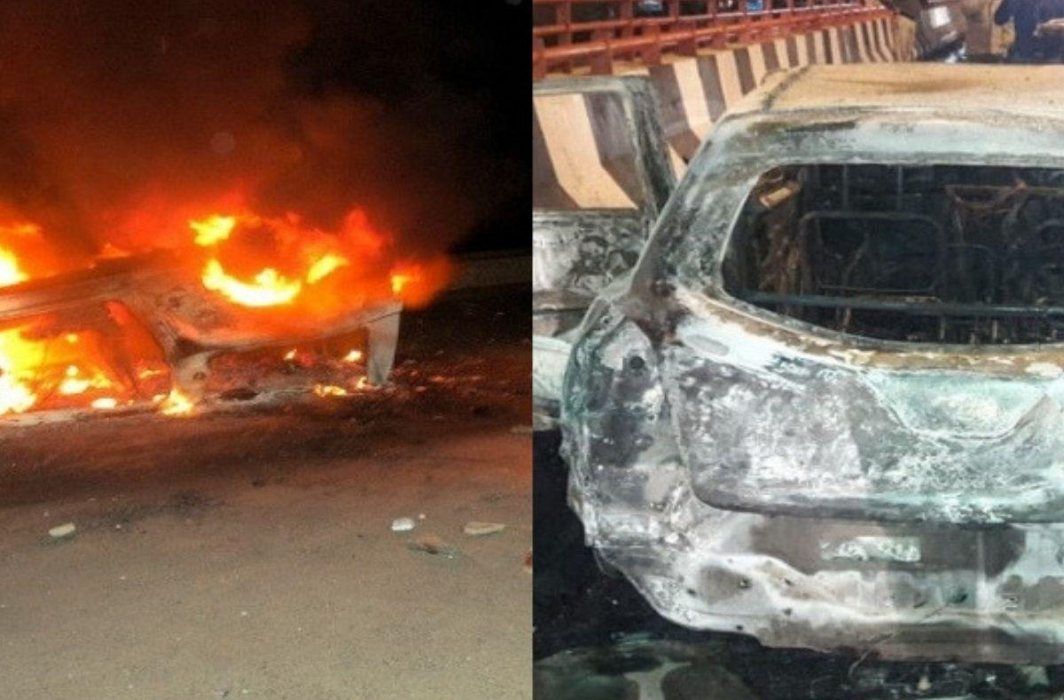 Family of the woman burnt in car accuses her husband of murdering her