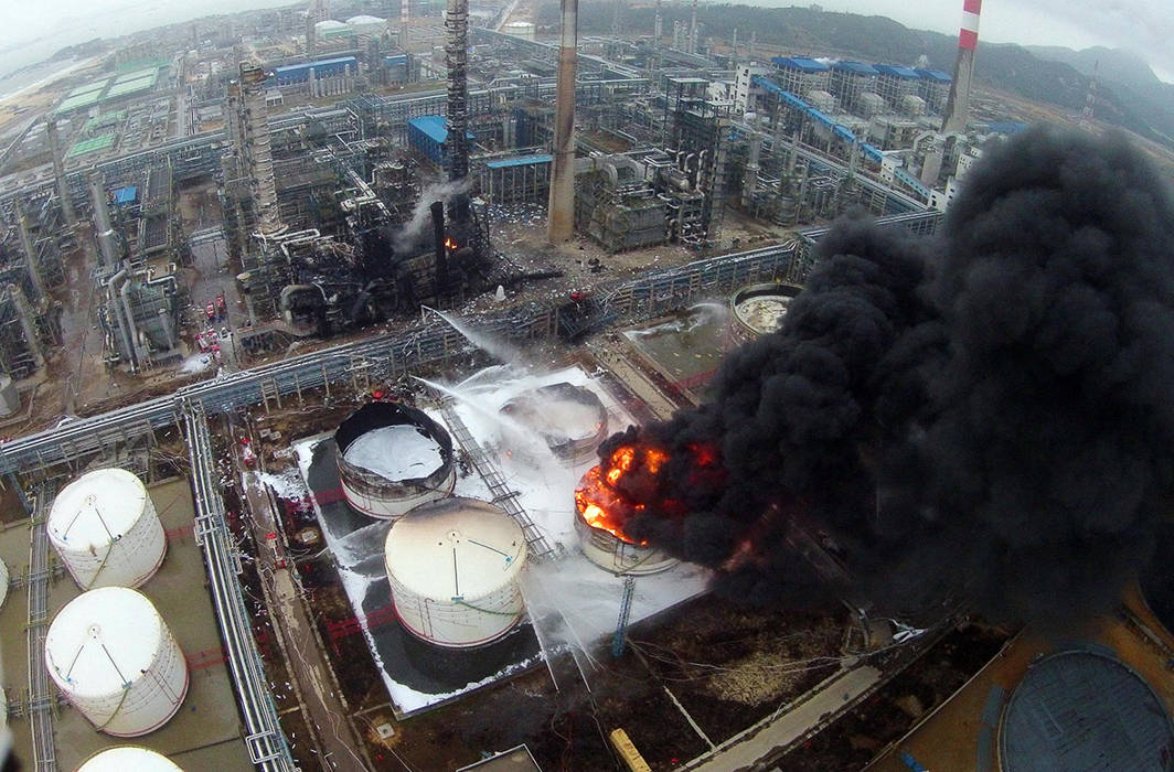 Fire in Chemical Plant
