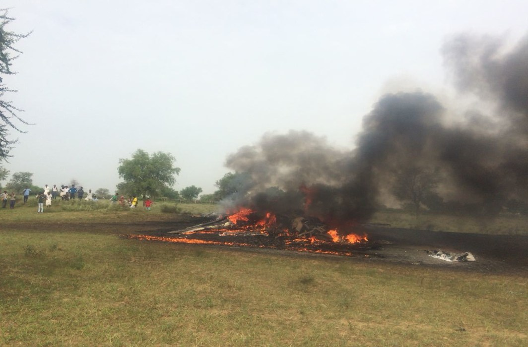 Air Force's MiG-27 Fighter Jet Crashes