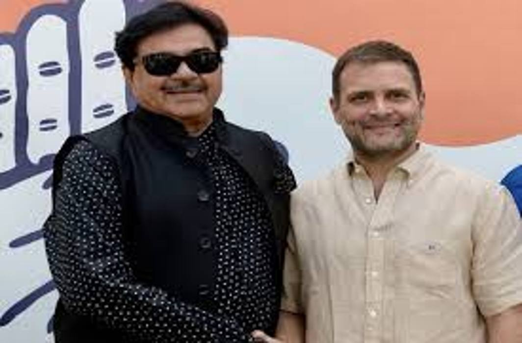 Shatrughan Sinha calls BJP one-man show, two-man army; joins Congress on BJP foundation day