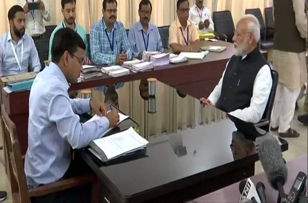PM Narendra Modi files his nomination in Varanasi