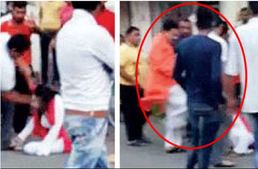 BJP MLA kicks local woman NCP leader protesting about water supply at his office