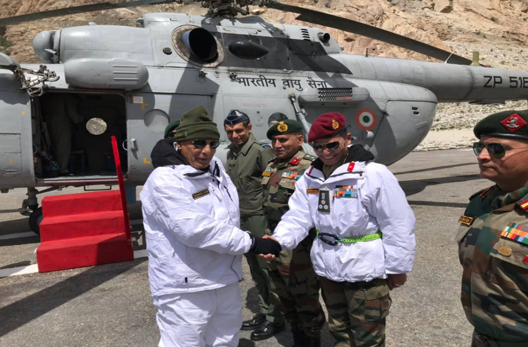 Rajnath Singh interacted with soldiers at Siachen, tweets, 'I salute their valour'