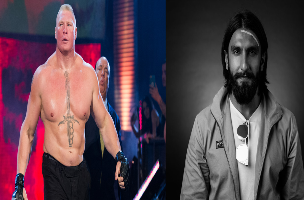 Ranveer Singh gets legal notice from The Beast Incarnate- Brock Lesnar