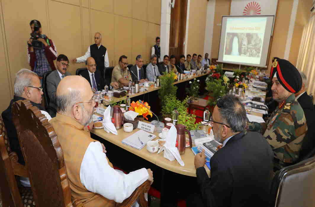 Home Minister Amit Shah reviews security, development works in Kashmir, meets family of slain cop