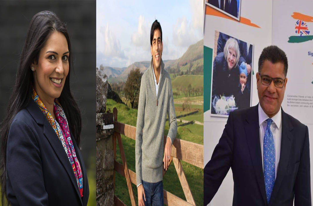 Priti Patel as UK's First Indian-origin Home Secretary with two others in the Johnson's Cabinet