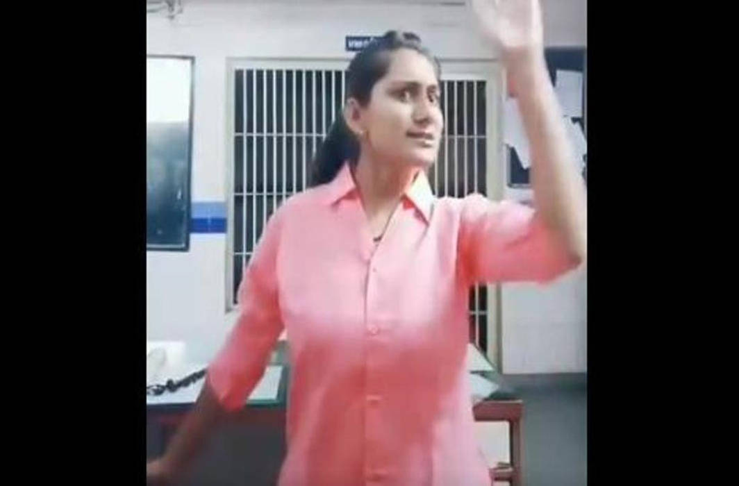 Gujarat lady cop suspended for dancing in police station