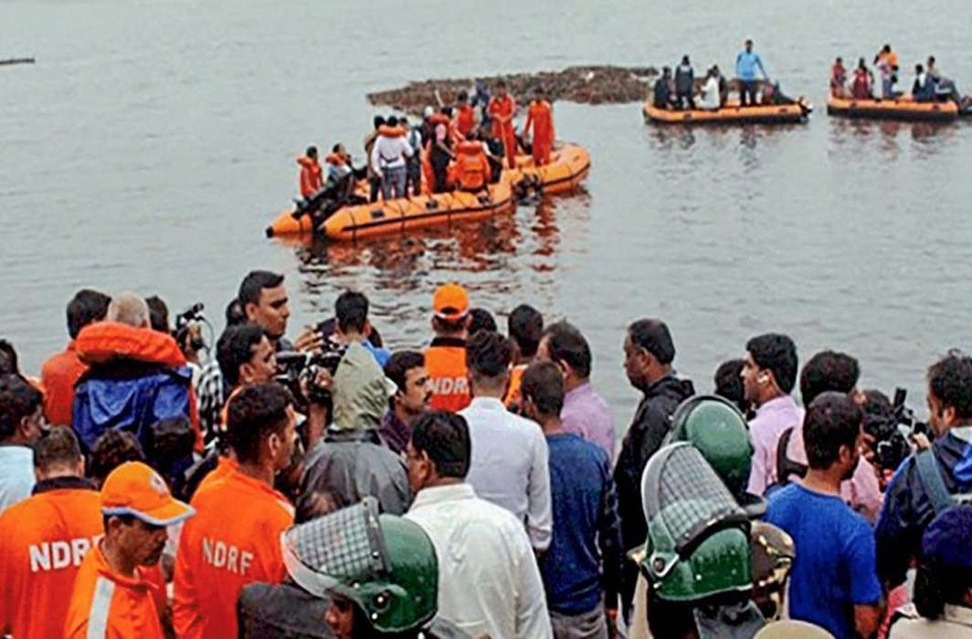 Dozens still missing after sight-seeing boat capsized in Godavari killing 12