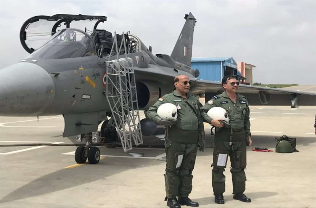 It was very smooth and comfortable: Rajnath Singh after Tejas Sortie