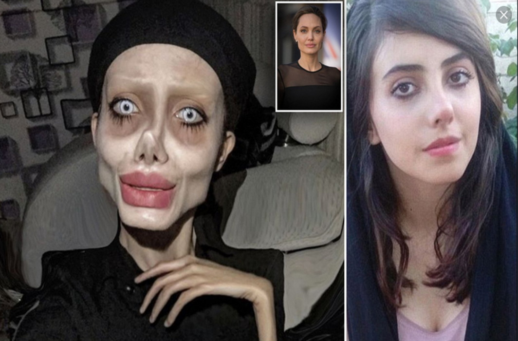 Blasphemy: Iran arrests Instagram star who went under knife for spooky Angelina Jolie looks