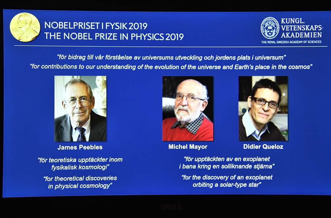 Three scientists get Nobel prize in Physics, one for discoveries about origin of Universe, two for discovering first exoplanet