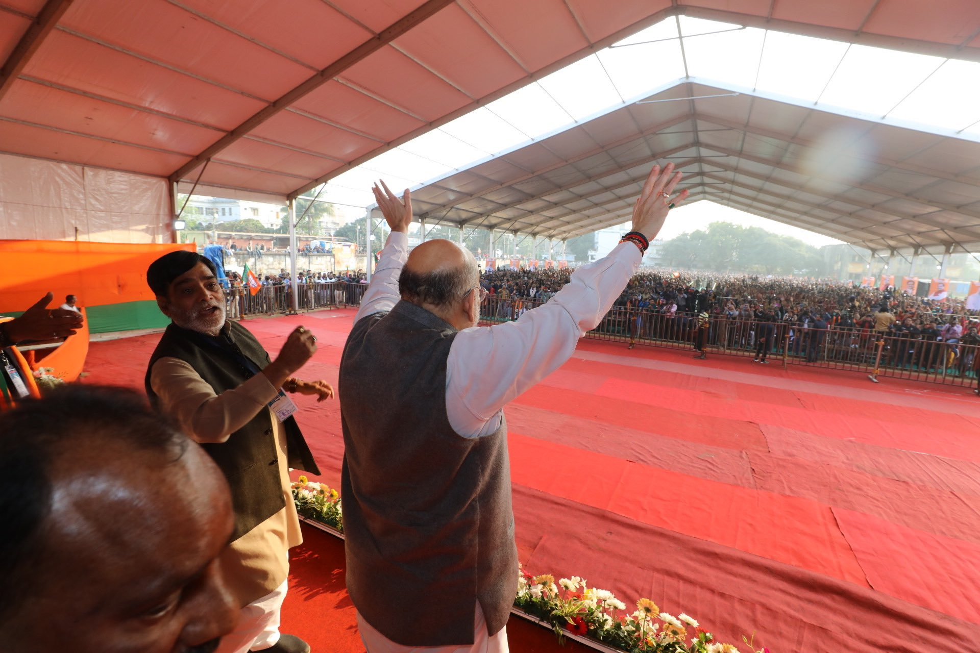 Amit Shah in a rally