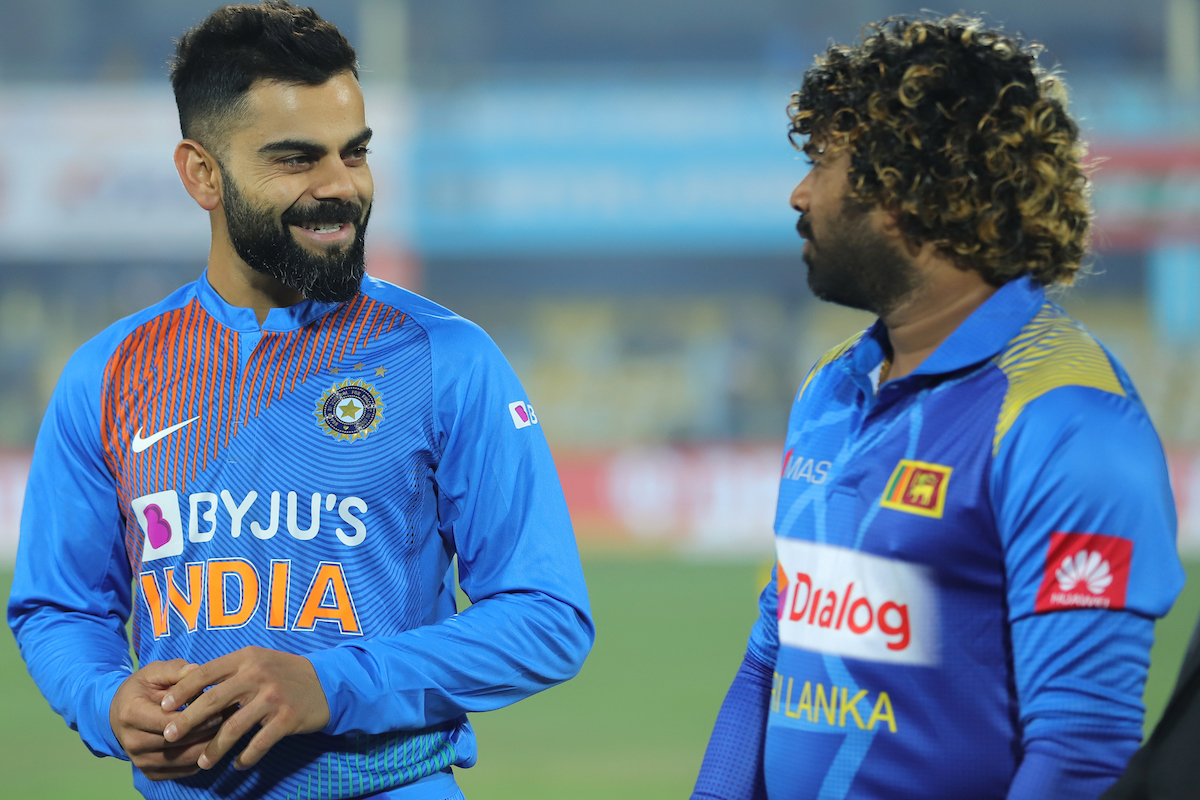 India vs Sri Lanka: Virat Kohli (L) with Lasith Malinga.