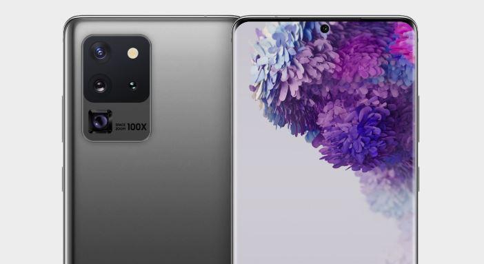 Samsung Galaxy S20 Ultra design as tweeted by Ben Geskin.