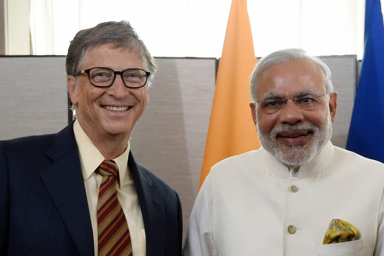 Bill Gates and Prime Minister Modi