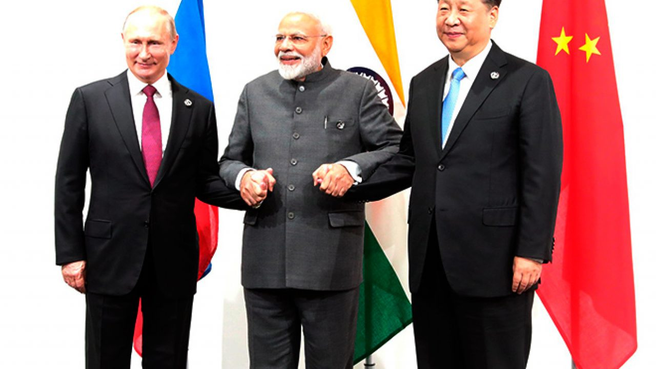 Russian, indian and chinese Prime Ministers