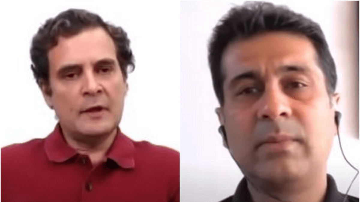 Rahul Gandhi and Rajiv Bajaj
