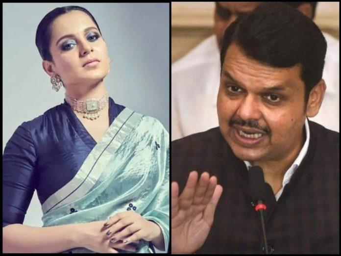 Devendra Fadnavis and Kangana