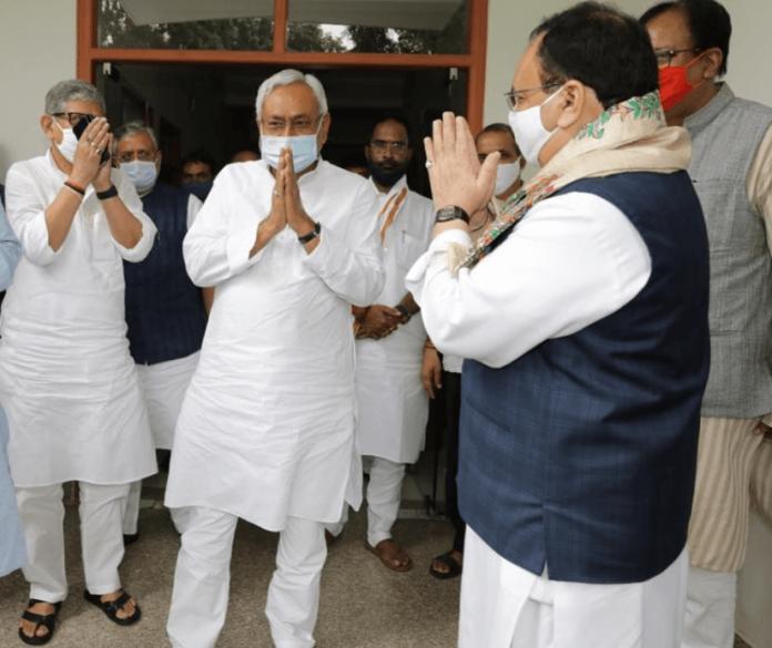 Nitish and BJP chief Nadda