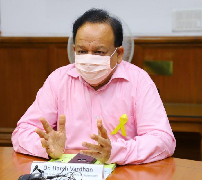 Health Minister Dr Harsh Vardhan