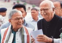 Murli Manohar Joshi with Lal Krishna Advani