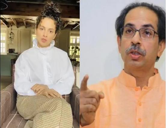 Kangana Ranaut and Uddhav Thackeray