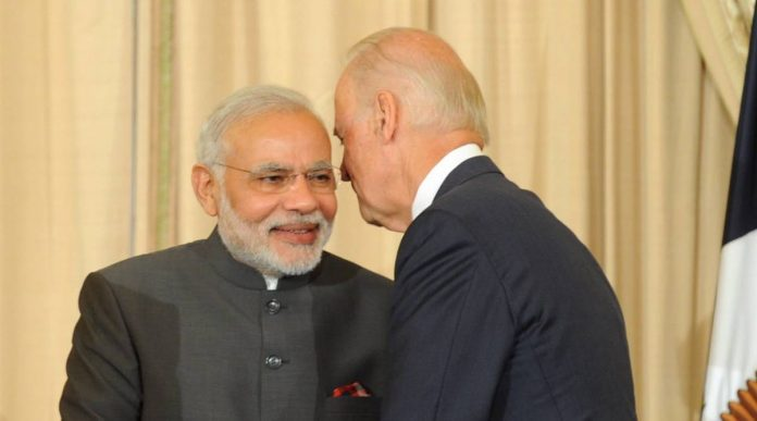 PM Narendra Modi and Joe Biden