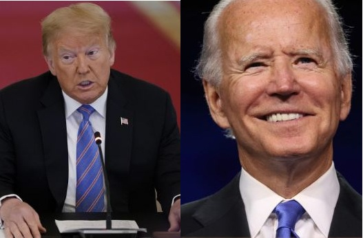 Trump and Joe biden