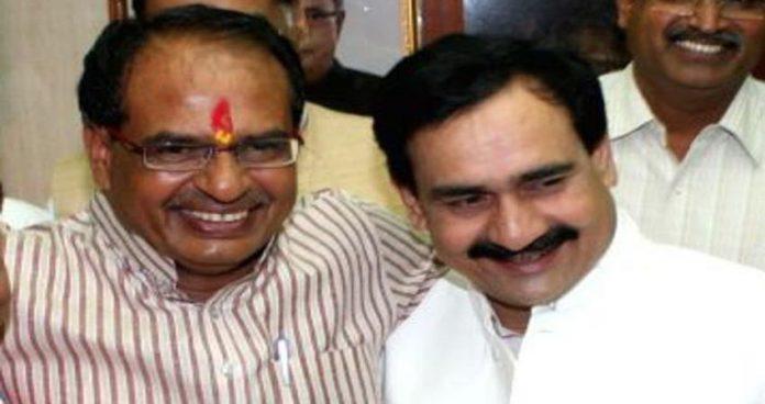 Shiv Raj singh chauhan with Narottam mishra